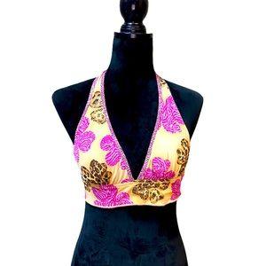 Vintage endless sun reversible bikini top